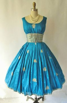 1950s Sari Dresses