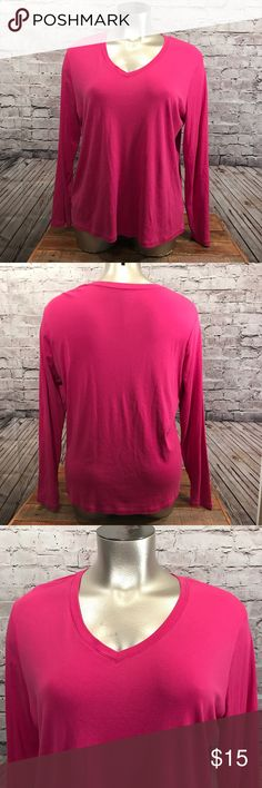"Merona Ladies Plus Size Blouse Size 3 Pink This top is in very Good Condition Bust 56"" Length 29"" Stock # F-42 Merona  Tops Blouses"