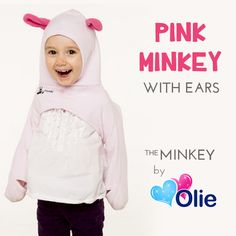 Fan Favorite: Pink Minkey with Ears! The perfect winter garment that is gloves, scarf and hat all in one! https://www.bumblebean.com/Olie-The-Minkey--Hat-Scarf-And-Mittens-All-In-One/dp/4122?ref=search #olie #minkey #pink #featured #product #fashionable #child