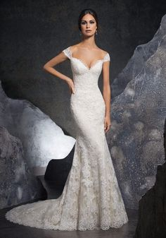 c1e5a0e4bfd5 Mori Lee 5616 Kinley Wedding Dres White A Line Fit and Flare Lace NWT Size 8