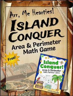 Arr, me hearties! This free Island Conquer Area and Perimeter Math Game from Laura Candler just got a pirate makeover!