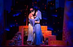 "Adam Jacobs and Courtney Reed in the Broadway musical ""Aladdin."""