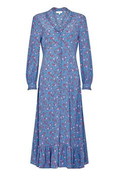 Buy Ghost Anouk Floral Satin Midi Dress, Soft Blue/Multi from our Women's Dresses range at John Lewis & Partners. Free Delivery on orders over Satin Midi Dress, Floral Midi Dress, Crepe Dress, Kate Middleton Kids, Kate Middleton Dress, Kate Middleton Daily Mail, Ghost Dresses, Blue Dresses, Women's Dresses