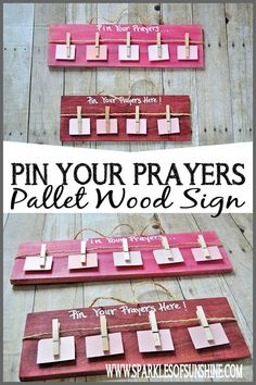 Pin Your Prayers Pallet Wood Sign