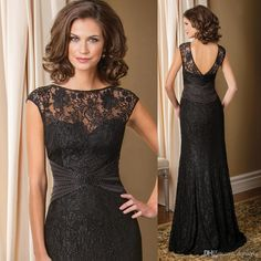 2016 Vintage Black Groom Mother Of The Bride Lace Dresses Long Backless Evening Gowns Floor Length Beads Vestido Mae Da Noiva Winter Mother Of The Bride Dresses Black And White Mother Of The Bride Dresses From Dressave, $120.61| Dhgate.Com