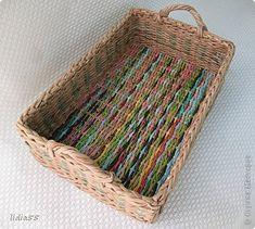 Поделка изделие Плетение коробочки Трубочки бумажные фото 4