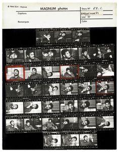 René Burri – Che Guevara contact sheet