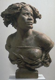 """Carpeaux, """"Pourquoi naître esclave"""", vers 1867, Musée de Valenciennes. Carpeaux, """"Why be born a slave,"""" circa 1867, Museum of Valenciennes."""