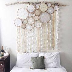 crochê volta à decoração - filtro dos sonhos