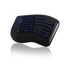 3-Color Illuminated Ergonomic Keyboard.  Stylish, Ergonomic, Illuminated.