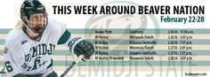 It's a WCHA Playoff week at BSU. Get out and support the Beavers.