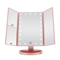 Tri Fold Vanity Mirror With Lights Dreamgenius Makeup Mirror 21 Led Lighted Vanity Mirror With Touch