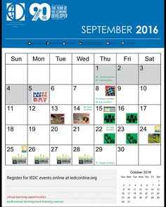 Check out all our events lined up for September! From training courses to webinars to Annual Conference, you won't want to miss anything September has to offer. See our website for more info: http://www.iedconline.org/
