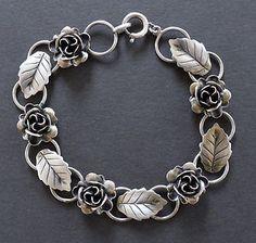 3d silver flower bracelet - Google Search