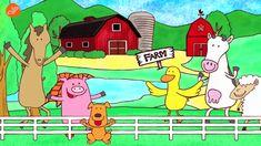 Farm Animals Song - Animals Sounds Song - Walk Around the Farm - ELF Lea...