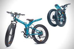 팻타이어를 붙인 접이식 전기자전거 - 제품으로 보는 세상의 안테나, 펀테나