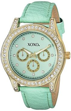 XOXO Womens XO3433 Analog Display Analog Quartz Lime Watch >>> You can get additional details at the image link.