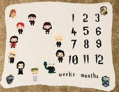 Harry Potter Milestone super soft Baby Blanket - Moon and Back Wishes Harry Potter Nursery, Harry Potter Baby Shower, Baby Harry Potter, Baby Milestone Blanket, Milestone Blankets, Breastmilk Storage Bags, Soft Baby Blankets, Premature Baby, Personalized Baby Blankets