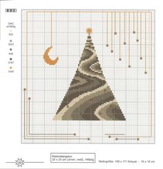 bargello needlepoint christmas tree chart