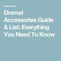 Dremel Accessories Guide & List: Everything You Need To Know - we list the types of Dremel bits, what they're used for, & the best bits for each task Dremel Bits Guide, Dremel Tool Bits, Dremel Tool Projects, Dremel Rotary Tool, Woodworking Projects, Wood Projects, Dremel Ideas, Fun Projects, Dremel Router