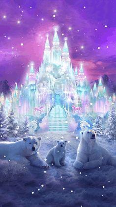 WINTER SNOW POLAR BEAR FANTASY GIF ❄️