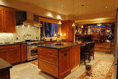 northwest contemporary kitchen step up to dining