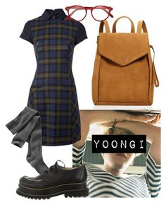 """Yoongi Inspired Outfit #2"" by flaviaazevedo2000 ❤ liked on Polyvore featuring Loeffler Randall, Hobbs NW3, Gap, Jean-Paul Gaultier, Cutler and Gross, bts, Suga, bias and yoongi"