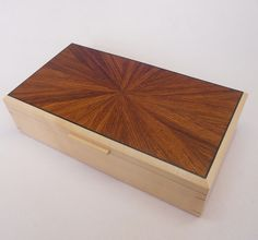 Jewellery Box - Sycamore and Rosewood £190.00               #CRAFTfest           Norfolkwoodcrafts on Folksy