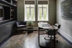 Knightsbridge Penthouse   Tollgard Nice home office group by Giorgetti. ION workdesk and Selectus executive chair