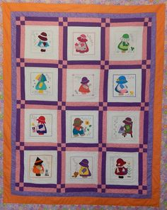 Sunbonnet Sue Postcards - Sew Out by Customer