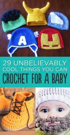 29 Unbelievably Cool Things You Can Crochet For A Baby by meredith