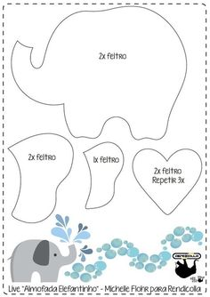 Elephant Template, Elephant Pattern, Baby Shawer, Baby Kind, Baby Shower Decorations For Boys, Baby Decor, Moldes Para Baby Shower, Baby Elefant, Baby Elephant Nursery