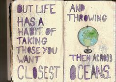 Oceans and people.