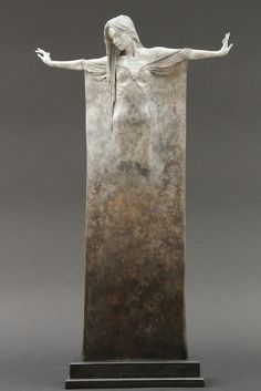 Beautifully Oxidized Bronze Sculptures of Elongated Women - My Modern Metropolis #statue #wman #art