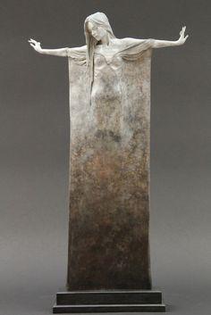 Beautifully Oxidized Bronze Sculptures of Elongated Women - My Modern Metropolis #statue #wman #art