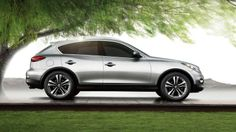 Infiniti QX50 AWD or Deluxe journey in either silver or grey w/ dark interior 2015 or newer