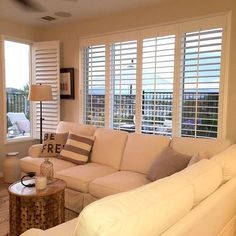 Living Room Inspiration - Relaxed look with shutters