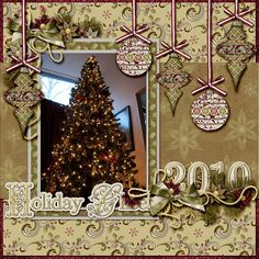 Christmas Tree scrapbook layout
