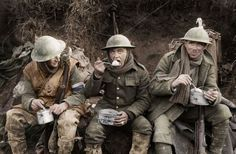 ENGLISH TROOPS, CHOW TIME