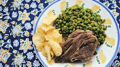 Lamb Chops with Mashed Peas and Mascarpone