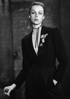 awesome Edie Campbell wears modern dandy style for Twin Magazine shot by Boo George  [Fashion]