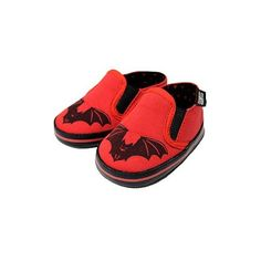 Awesome bat baby shoes