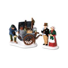 Amazon.com - Department 56 Dickens Village The Coffee Stall, Set of 2 - Holiday Figurines