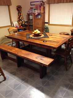A fantastic table and benches delivered!