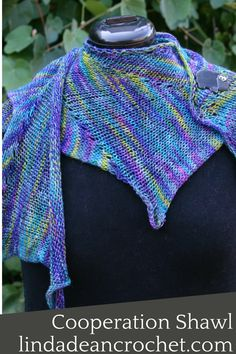 The Cooperation Shawl is part of the perfect kit...both a knit and crochet pattern!