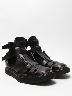Neil Barrett Men's Hybrid Jelly Boot Sandal in black