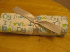 Burp Cloth for Baby by PlaidPeonyCrafts on Etsy, $5.00