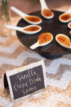 Vanilla Crème Brulee Shots | 24 carrots Catering and Events