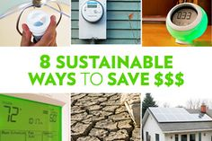 Save energy and water! You'll save money, too- From HouseLogic #realestate