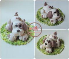 Cachorrinho / Dog Porcelana fria / Cold porcelain